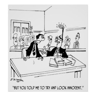 Lawyer Cartoon 5299 Poster