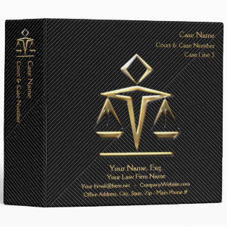 Lawyer Case Book v4 (Personalized) 3 Ring Binder