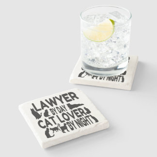 Lawyer Cat Lover Stone Coaster