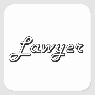 Lawyer Classic Job Design Square Sticker