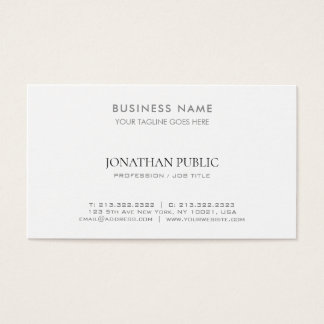Lawyer Consultant Modern Stylish Company Simple Business Card