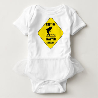 Lawyer Crossing with Shark Baby Bodysuit