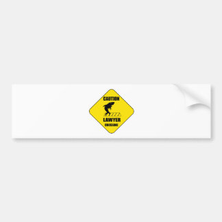 Lawyer Crossing with Shark Bumper Sticker