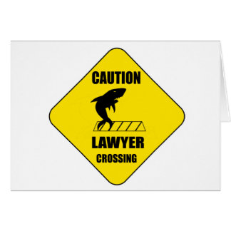 Lawyer Crossing with Shark Card