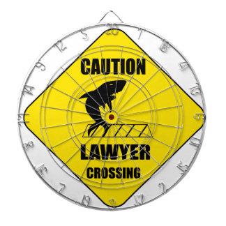 Lawyer Crossing with Shark Dartboard
