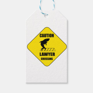 Lawyer Crossing with Shark Gift Tags