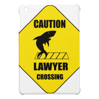 Lawyer Crossing with Shark iPad Mini Cover