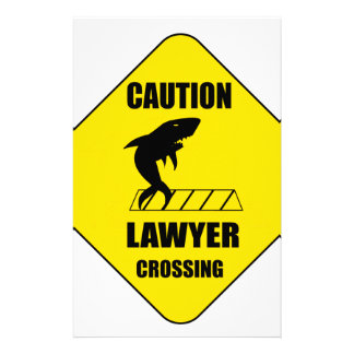 Lawyer Crossing with Shark Stationery