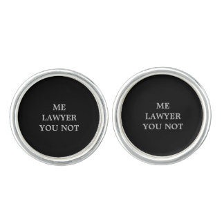 Lawyer Cuff Links with humor