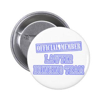 Lawyer Drinking Team 2 Inch Round Button