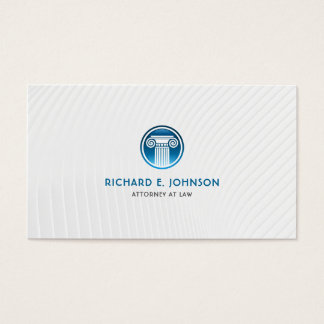 Lawyer Firm Attorney of law Blue Court Pillar Icon Business Card