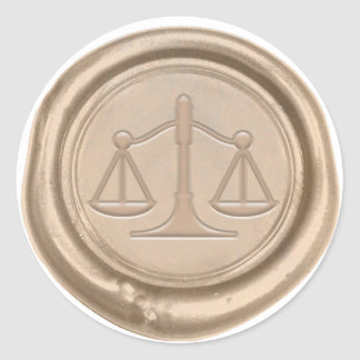 Lawyer Gold Scale of Justice Law Office Wax Seal