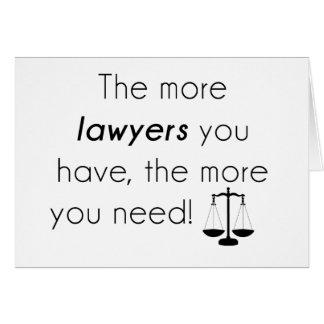 Lawyer humor card