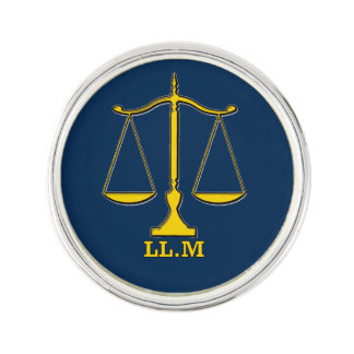 Lawyer LL.M Scales of Justice Lapel Pin