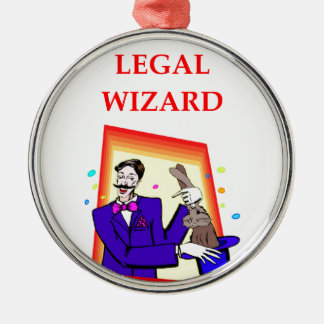 lawyer metal ornament
