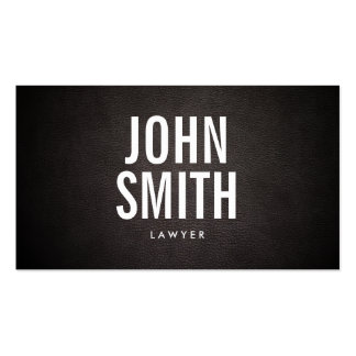 Lawyer Modern Bold Text Elegant Leather Business Card