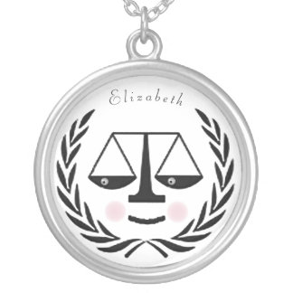 lawyer silver plated necklace