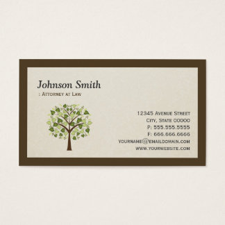 Lawyer - Simple Elegant Tree of Life Symbol Business Card