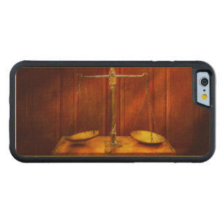 Lawyer - Unbalanced scale of justice Carved Maple iPhone 6 Bumper Case