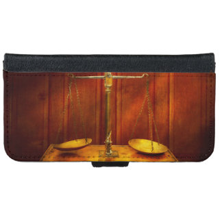 Lawyer - Unbalanced scale of justice iPhone 6 Wallet Case