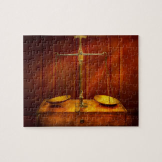 Lawyer - Unbalanced scale of justice Jigsaw Puzzle