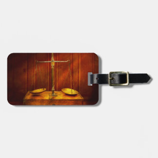 Lawyer - Unbalanced scale of justice Luggage Tag
