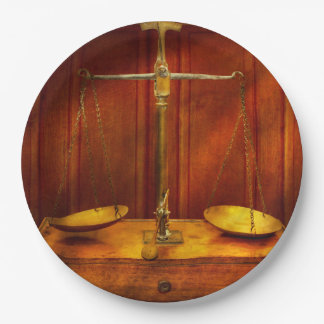 Lawyer - Unbalanced scale of justice Paper Plate