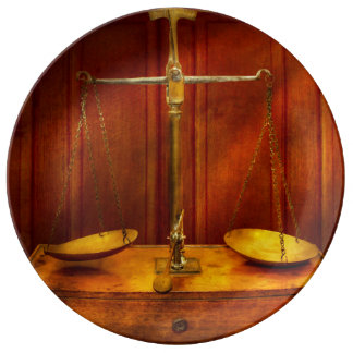 Lawyer - Unbalanced scale of justice Plate