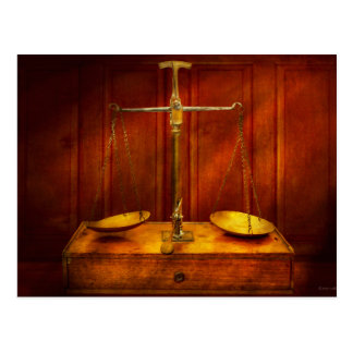 Lawyer - Unbalanced scale of justice Postcard