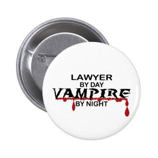 Lawyer Vampire by Night 2 Inch Round Button