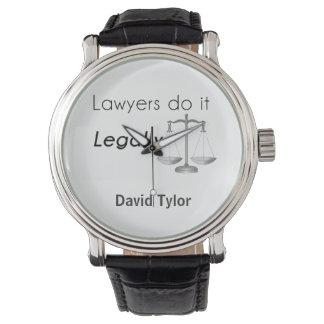 Lawyers do it! wristwatches