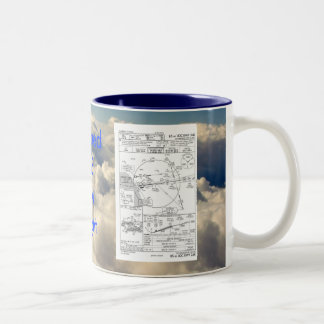 LAX ILS 24R, ILS depiction, ... Two-Tone Coffee Mug