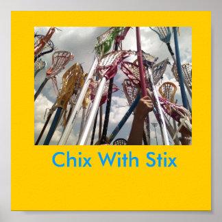 lax sticks, Chix With Stix Poster