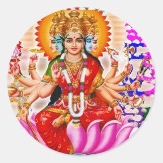 LAXMI - Goddess of Wealth Classic Round Sticker