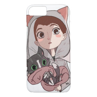 Layer for Iphone 7 Boy&Cat iPhone 8/7 Case
