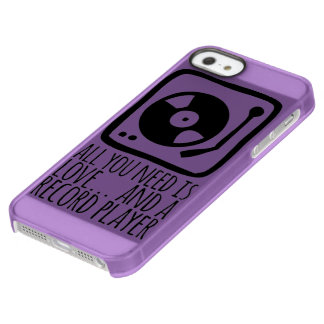 "Layer for iPhone IF + iPhone 5/5s ""Record player "" Permafrost® iPhone SE/5/5s Case"