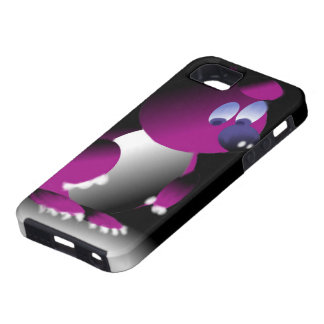 Layer for iPhone IF with print of purple bear iPhone 5 Case