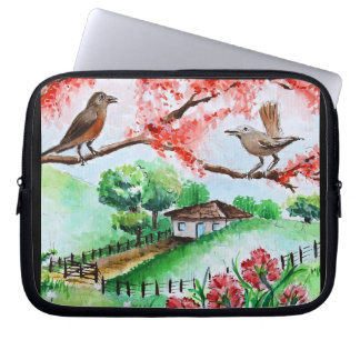 LAYER FOR LAPTOPS - BIRDS IN THE WINDOW LAPTOP SLEEVE