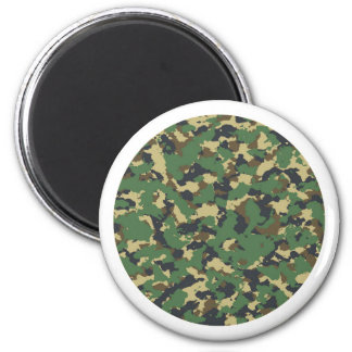 Layer green Camouflage Magnet