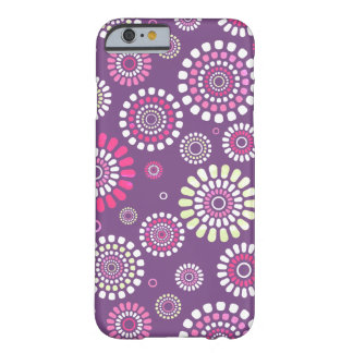 Layer Iphone 6 Purple Flowery Subject Barely There iPhone 6 Case