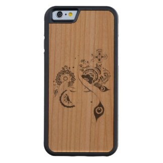 Layer iphone 7 floral wood doodle carved cherry iPhone 6 bumper case