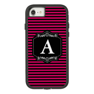 Layer iPhone 8/7, Tough Pink Stripes Monogram Case-Mate Tough Extreme iPhone 8/7 Case