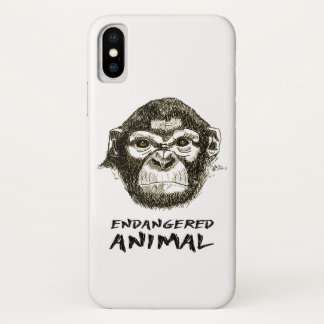 Layer of cellular monkey, animal in extinction iPhone x case