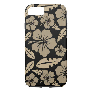 Layer of Iphone 8 Black Flowers of the Havai iPhone 8/7 Case