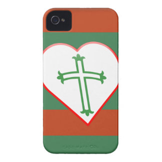Layer Rubro-Green Passion iPhone 4 Case-Mate Cases
