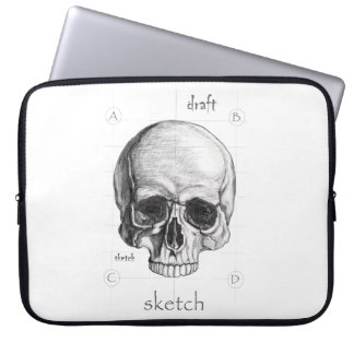 Layer We sketch of the Skull Laptop Sleeve