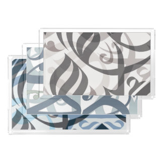 Layered Calligraphic Tray Set