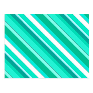 Layered candy stripes - turquoise and white postcard