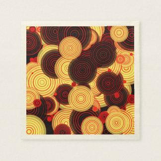 Layered circles disposable napkin