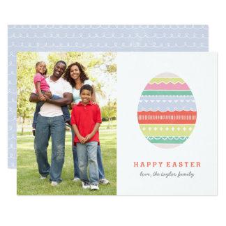 "Layered Egg Easter Card - Crimson 5"" X 7"" Invitation Card"